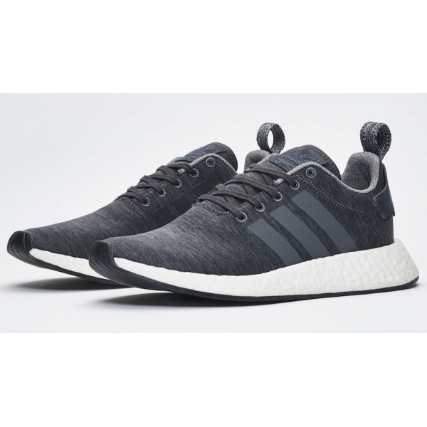 """Adidas Men NMD R2 """"Melange Pack"""" Grey Shoes BY2789"""