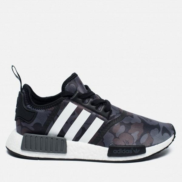Adidas Men NMD R1 X Nomad Green Purple Shoes BA732...