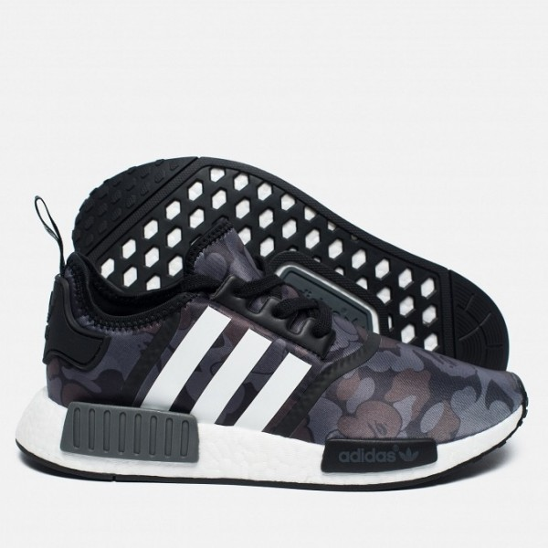Adidas Men NMD R1 X Nomad Green Purple Shoes BA7325
