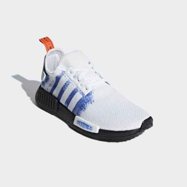 Adidas Men NMD R1 White/Bold Blue/Black Shoes G28731