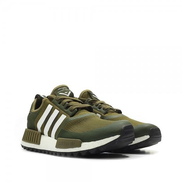 Adidas Men NMD R1 Trail Primeknit X White Mountaineering Green White Shoes CG3647