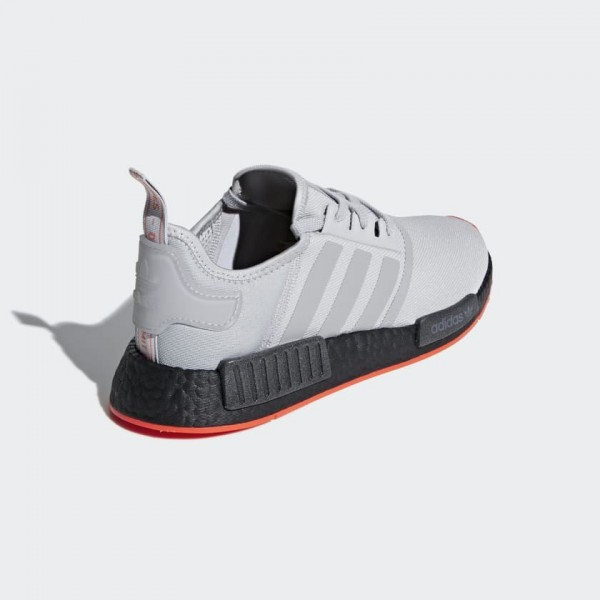 Adidas Men NMD R1 Running Shoes Grey Solar Red F35882