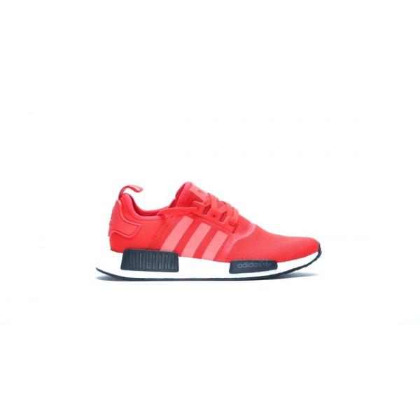 Adidas Men NMD R1 Runner Red Black White Shoes BB1...