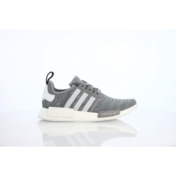 Adidas Men NMD R1 Runner Solid Grey White Shoes BB...