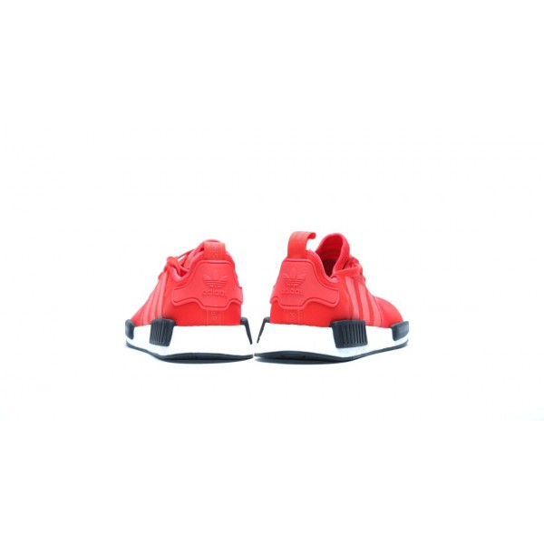 Adidas Men NMD R1 Runner Red Black White Shoes BB1970
