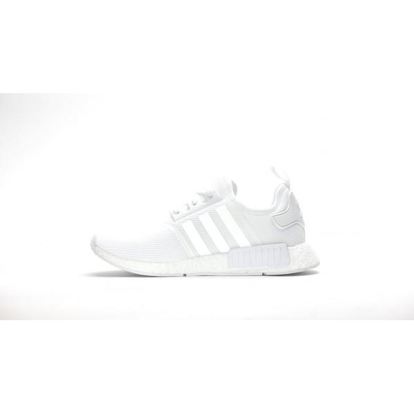 "Adidas Men NMD R1 Runner Monochrome ""Triple White"" Shoes S79166"
