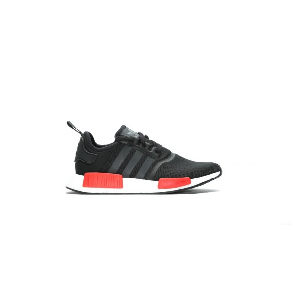 Adidas Men NMD R1 Runner Boost Black Red Shoes BB1...