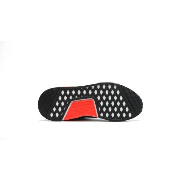 Adidas Men NMD R1 Reflective 3M Dark Grey Solar Red Shoes S31510