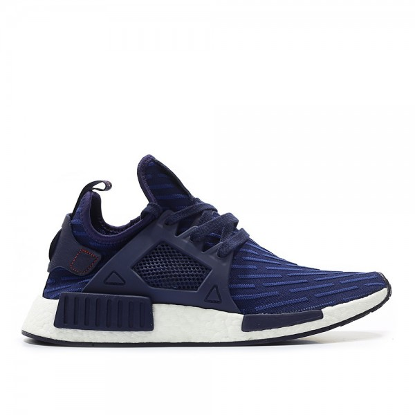 Adidas Men NMD XR1 Primeknit Navy Red Shoes BA7215