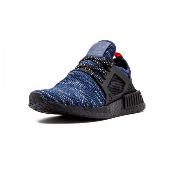 Adidas Men Original NMD XR1 Dark Blue Red Shoes BY9649