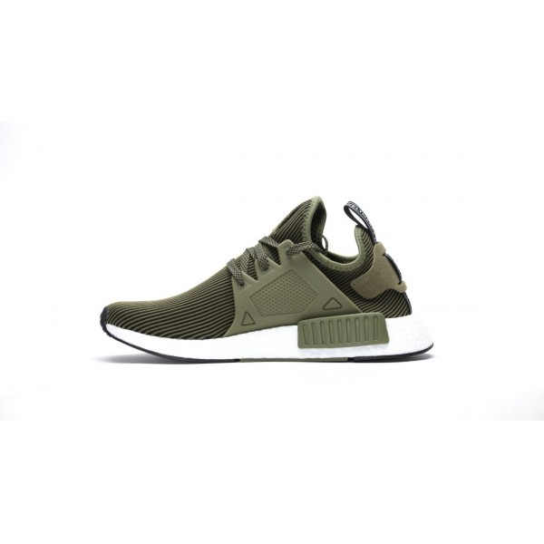 Adidas Men NMD XR1 Boost Runner Primeknit Green Black White Shoes S32217