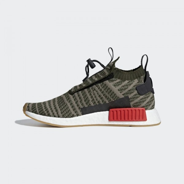 Adidas Men NMD TS1 Primeknit Shoes Base Green B37633