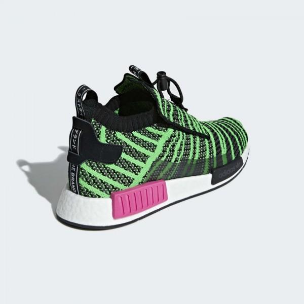 Adidas Men NMD TS1 Primeknit Black Green Shoes B37628