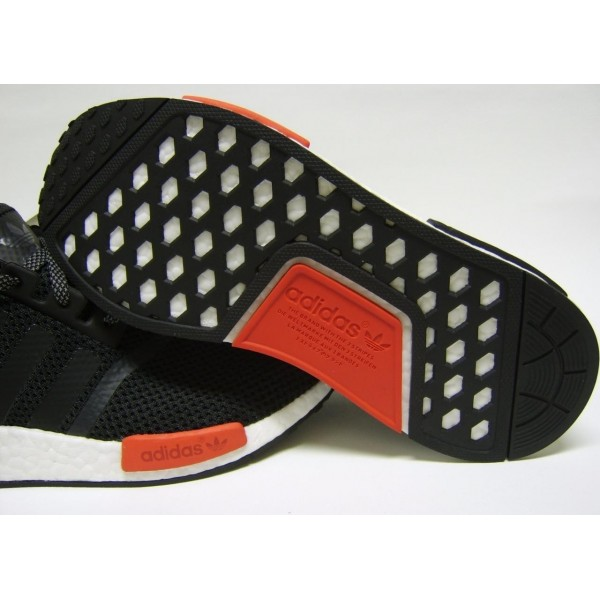 Adidas Men NMD Runner Boost NMD R1 Black White Red Shoes AQ4498