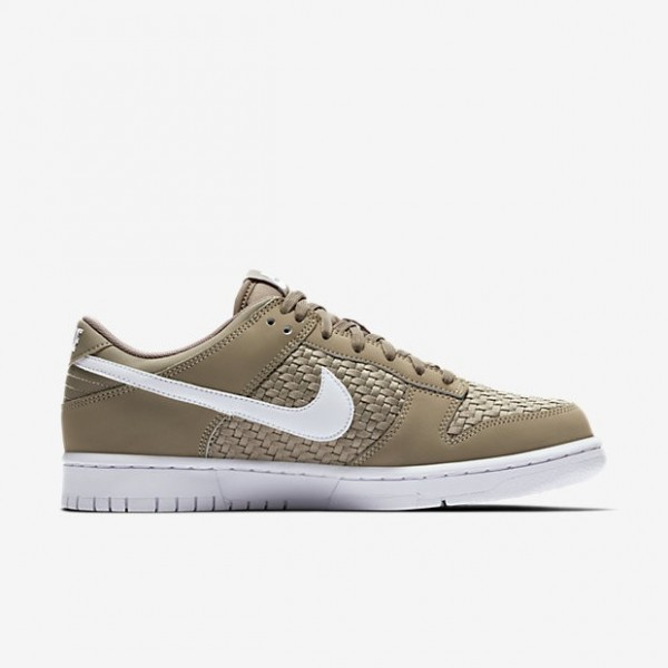 Nike Men Dunk Low Khaki White Shoes 904234-200