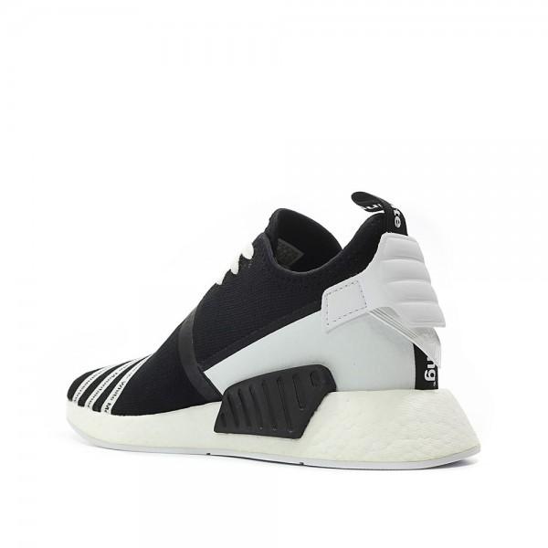 Adidas Men NMD R2 Primeknit X White Mountaineering Black White Shoes CG3648