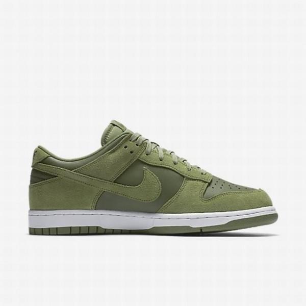 Nike Men Dunk Low Green White Shoes 904234-300