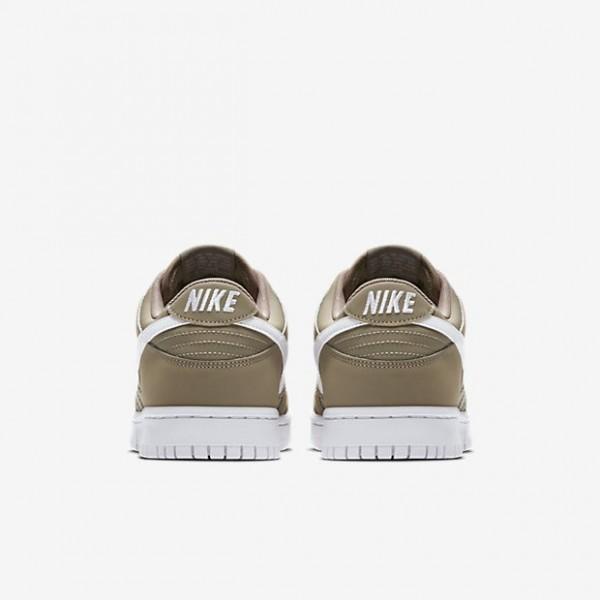 Nike Men Dunk Low Khaki White Shoes 904234-200