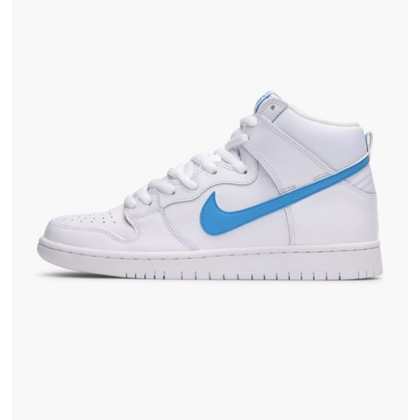 Nike Men Dunk High TRD QS White Blue Shoes 881758-...