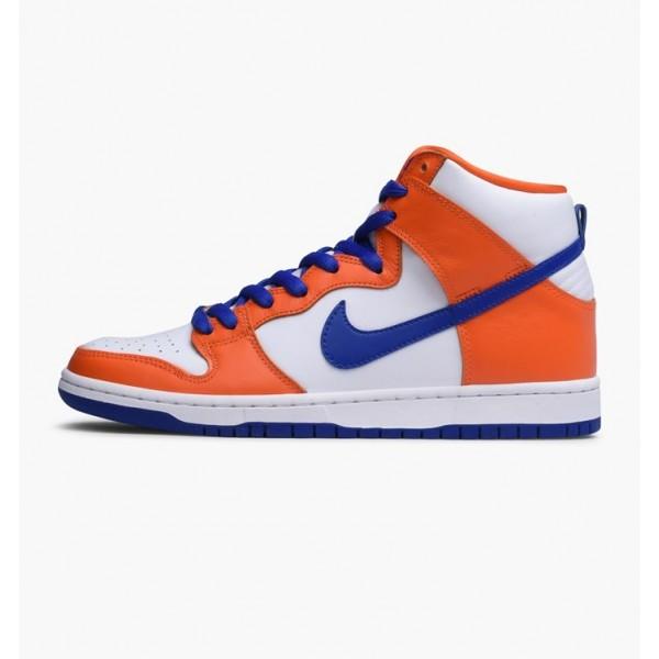 Nike Men Dunk High TRD QS Orange Blue White Shoes ...
