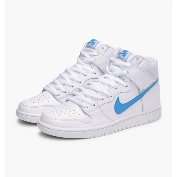 Nike Men Dunk High TRD QS White Blue Shoes 881758-141