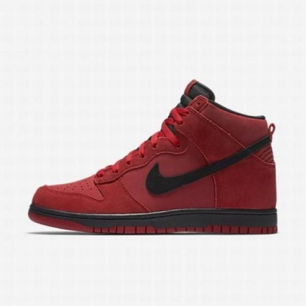 Nike Men Dunk High Red Black Shoes 904233-600