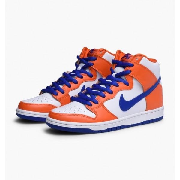 Nike Men Dunk High TRD QS Orange Blue White Shoes AH0471-841