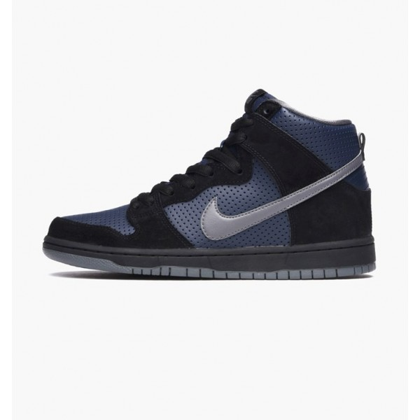 Nike Men Dunk High Gino Black Blue Shoes 881758-00...