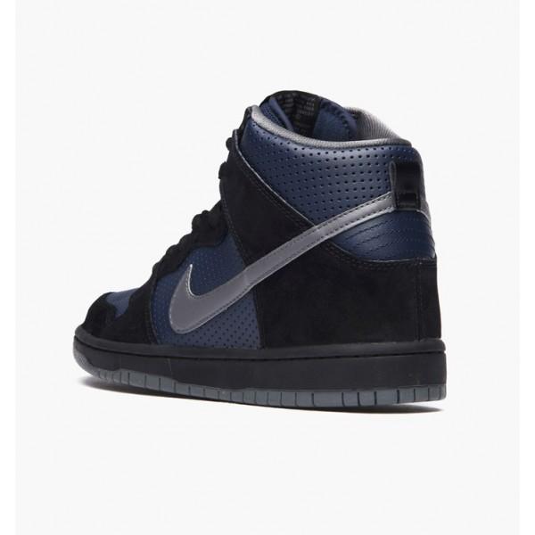 Nike Men Dunk High Gino Black Blue Shoes 881758-001