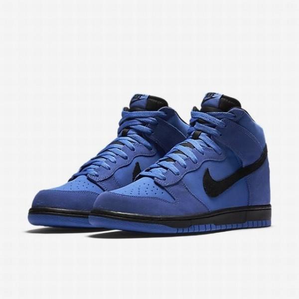 Nike Men Dunk High Blue Black Shoes 904233-401
