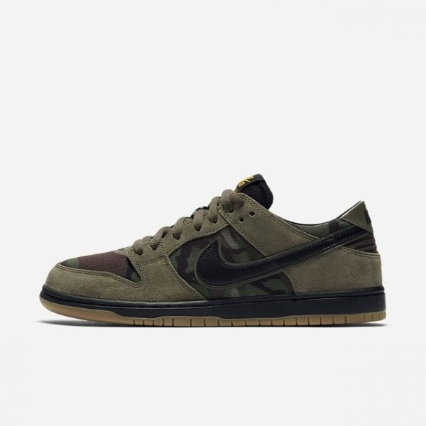 Nike 854866-209 SB Zoom Dunk Low Pro Medium Olive/...