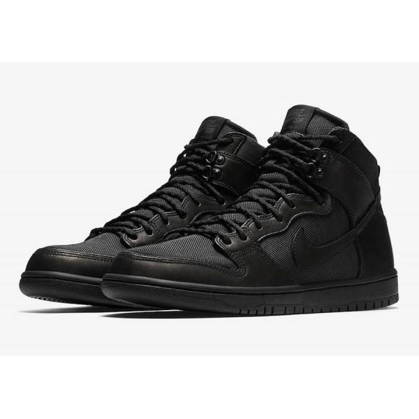 Nike 923110-001 SB Dunk High Pro BOTA Men Triple Black