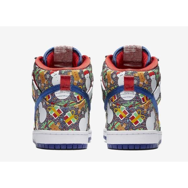 Concepts x Nike SB Dunk High 881758-446 Blue Ribbon/Atom Red