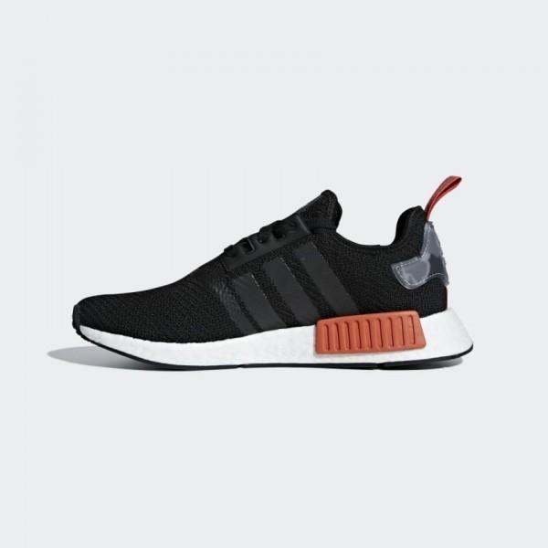 Adidas Men NMD R1 Boost Black Red Shoes AQ0882