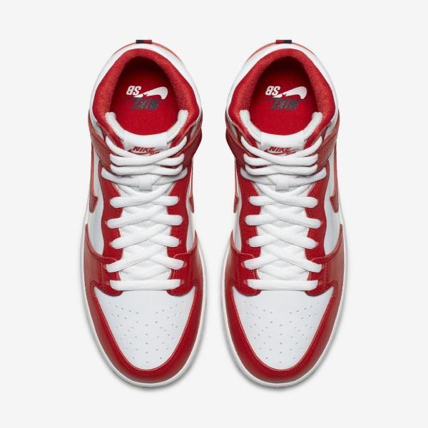 854851-661 Nike SB Zoom Dunk High Pro University Red/White