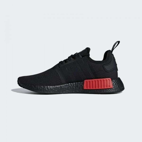 Adidas Men NMD R1 Black Red Running Shoes B37618