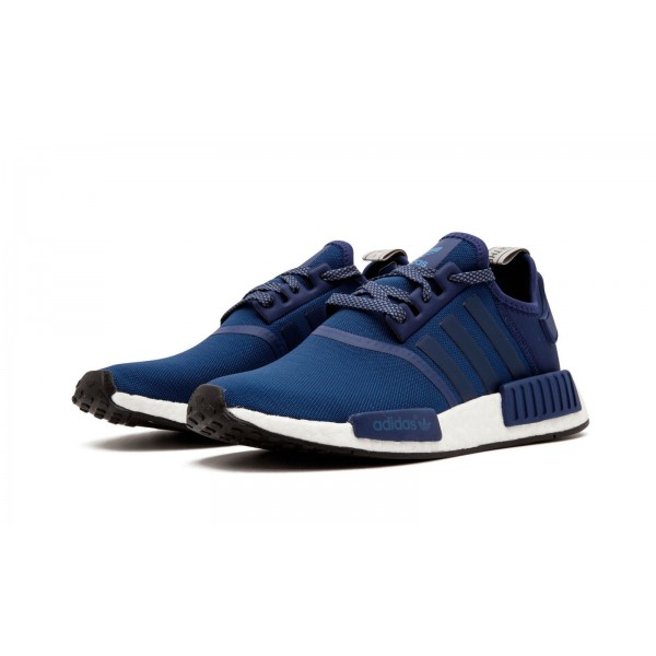 """Adidas Men NMD R1 """"JD Sports"""" Navy Blue White Shoes BY2505"""