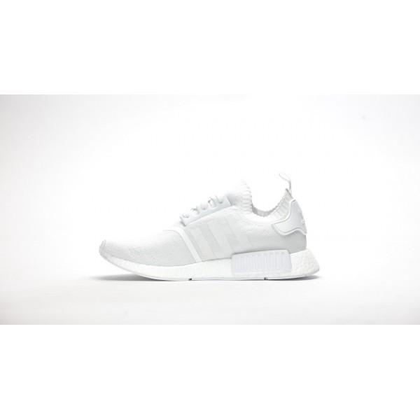 """Adidas Men NMD Primeknit """"Triple White"""" Shoes BA8630"""