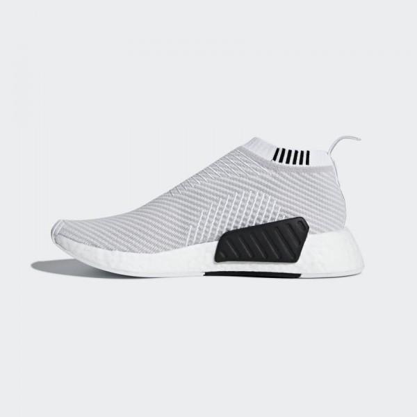 Adidas Men NMD CS2 Primeknit White/Grey/Black D96743
