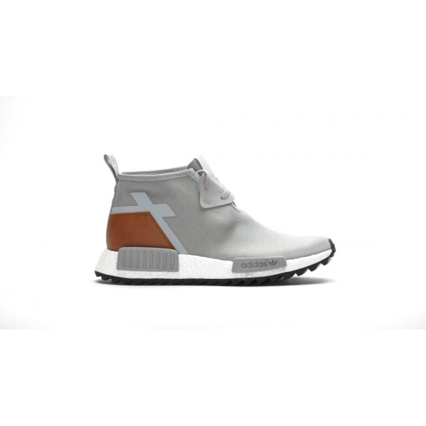 "Adidas Men NMD C1 Trail Premium Leather ""Solid Grey"" Shoes S81835"