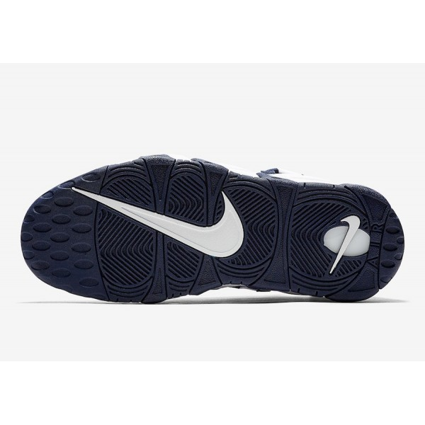 """AR5401-100 Nike Air More Money """"The Bronx"""" White Midnight Navy Men Shoes"""