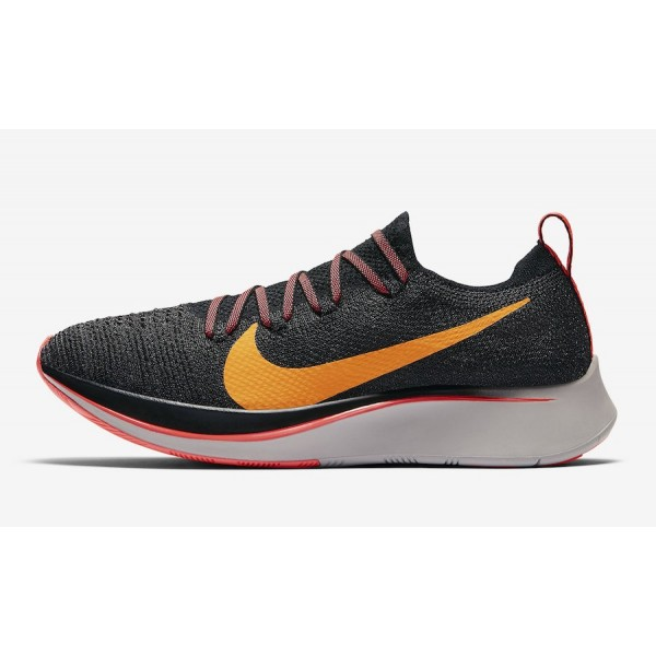 AR4562-068 Nike Zoom Fly Flyknit Black Orange Peel...