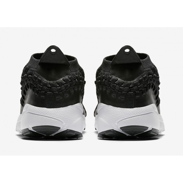 AO5417-001 Nike Air Footscape Woven NM Flyknit Black White Men Shoes