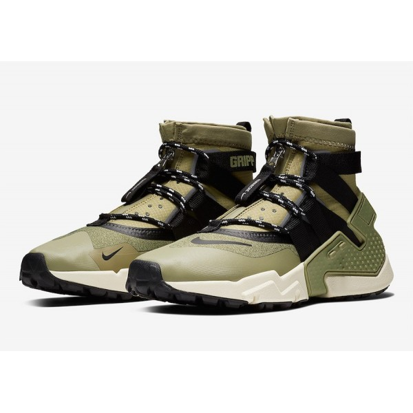 AO1730-200 Nike Air Huarache Gripp Olive Black Men Shoes