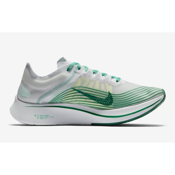 AJ9282-101 Nike Zoom Fly SP Summit White/Lucid Green Shoes