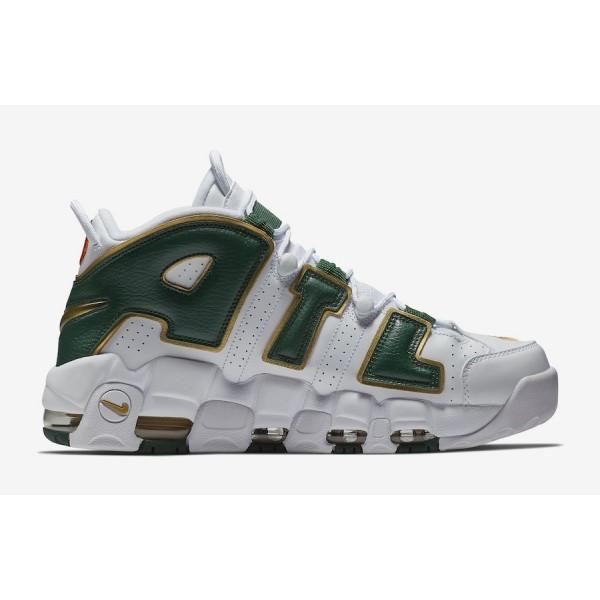 AJ3139-100 Nike Air More Uptempo Atlanta White/Gorge Green