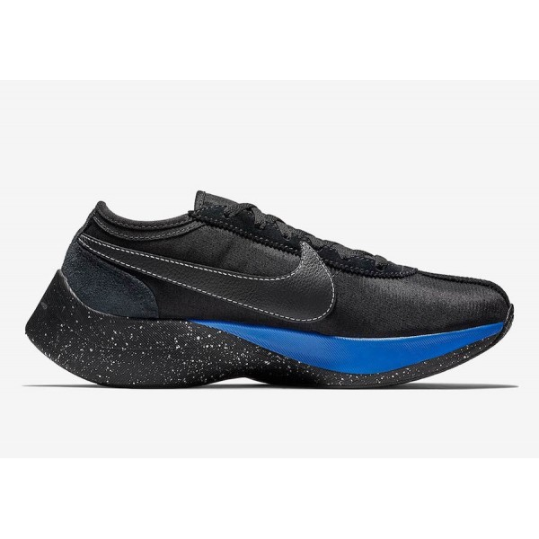 BV7779-001 Nike Moon Racer QS Black Racer Blue Shoes