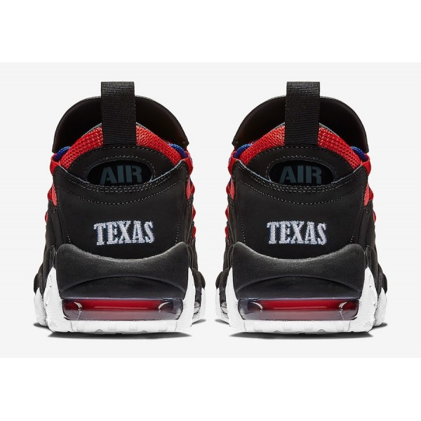 """BV2521-001 Nike Air More Money """"Lone Star State"""" Black Red Men Shoes"""