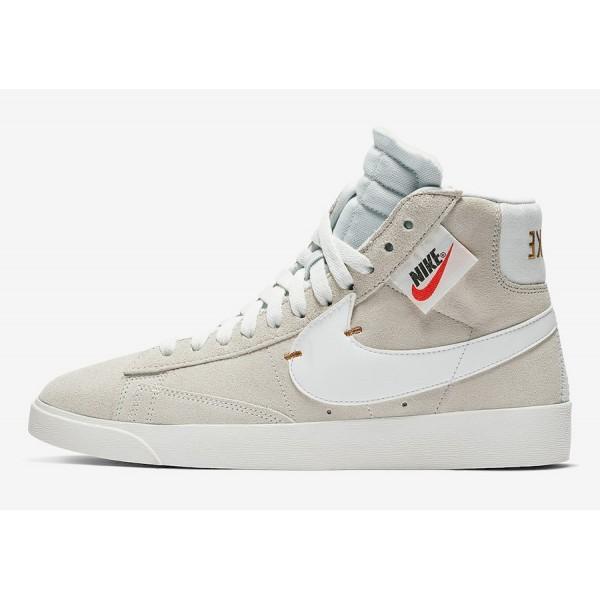 BQ4022-101 Nike Blazer Mid Rebel Cream White Black...