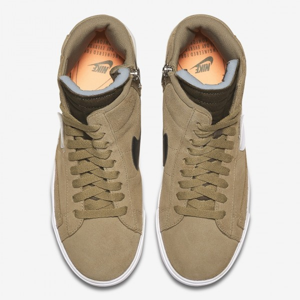 BQ4022-201 Nike Blazer Mid Rebel XX Olive White Women Shoes